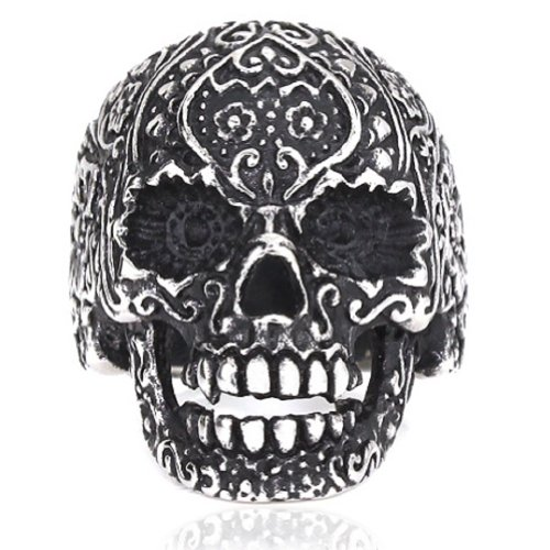 Stainless Steel Rings Vintage Skull rings Fashion Jewelry for men - 8