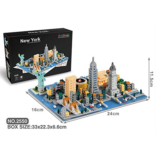HLDX 1531+PCS City Building Series Street View 3D Building Blocks DIY Building Assembled Toys Men and Women Birthday Gifts/Micro Brick