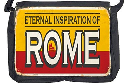 Borsa Tracolla Retro Arte Metropole Roma Italia Stampato