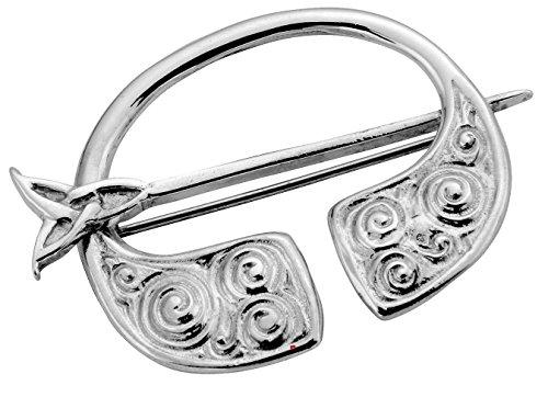 Broche Pennanular en argent sterling Celtic Swirl style Pin pivotant - 35mm