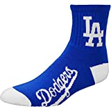 MLB Los Angeles Dodgers Men's Team Quarter Socks