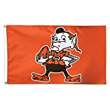 NFL Cleveland Browns 14457115 Deluxe Flag, 3' x 5'