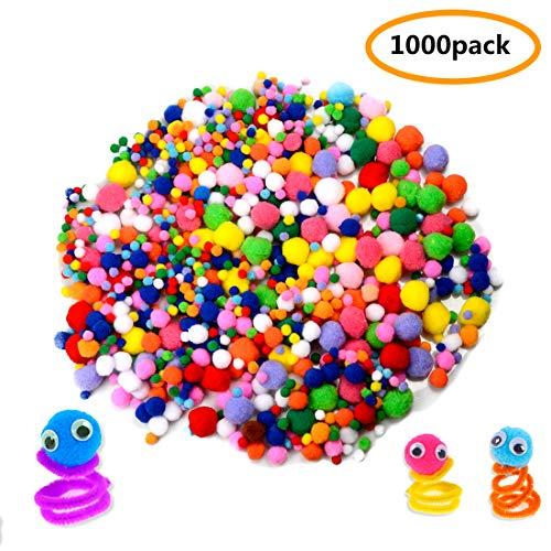 Mixed Size pom pom Ball, 1000 pcs