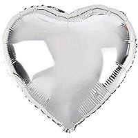 RPS 18 inç Kalp Parlak Gümüş Folyo Balon