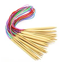 """Celine lin 18 sizes 40 inch""""(100cm)Colorful Circular Bamboo Knitting Needles (2mm-10mm)"""