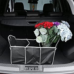 NOBBUING Quality 2-In-1 Car Boot Organiser Shopping Tidy Heavy Duty Foldable Storage Car Trunk Organizer, Collapsible Expandable Cargo Storage Container for SUV,Car,Truck,Home,Camping