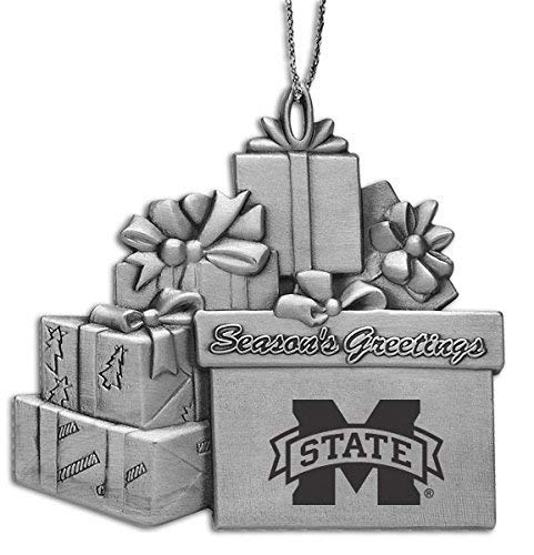 - Mississippi State Univerty - Pewter Gift Package Ornament