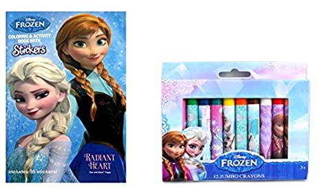 Disney Frozen Pocket Size Coloring Book With 12 Jumbo Crayons