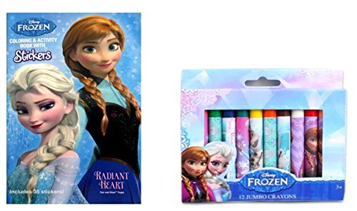 Amazon Disney Frozen Pocket Size Coloring Book With 12 Jumbo Crayons Toys Games