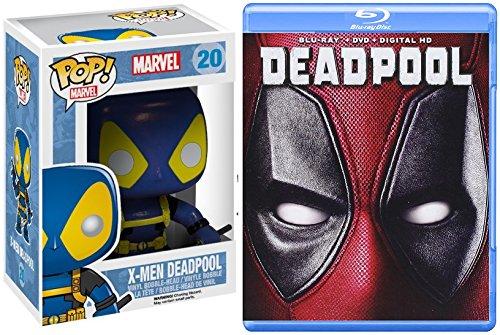 Deadpool Blu Ray Set X-Men Funko Deadpool Pop! Figure Movie Pack Bundle