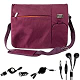 Purple Student Bag for 12.5 15.6 inch Lenovo ThinkPad X Ideapad Edge Yoga B50 G50 LaVie U31 U530 Flex G Y40 Y50 3 14 Z41 Z51 and Mini USB Car Charger and Headphone Splitter Cable and Micro USB Cord