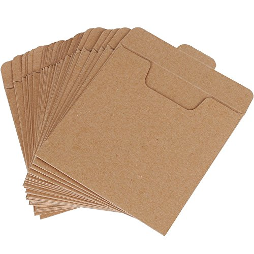 Vastar 30 Packs CD Sleeves Kraft Paper DVD Envelopes