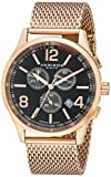 "Akribos XXIV Men's AK719RG ""Ultimate"" Rose Gold-Tone Stainless Steel Watch with Mesh Bracelet"