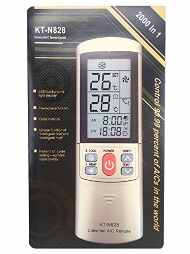 Meide KT-N828 Universal AC Air Conditioner Remote Control For Sanyo SAMSUNG Toshiba LG York AUX CARRIER DAIKIN ELECTROLUX FUJITSU GALANZ HISENSE HAIER HITACHI KELON MIDEA SHARP With Stand 2000 In 1