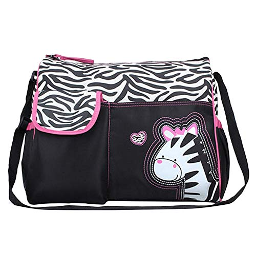 Baby Bucket Diaper Changing Bag   Zebra Pattern   Multi Color
