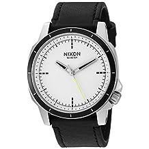 Nixon Men's 'Ranger Ops' Quartz Leather Watch, Color:Black (Model: A914127-00)