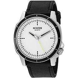 Nixon Men's 'Ranger Ops' Quartz Leather Automatic Watch, Color:Black (Model: A914127-00)