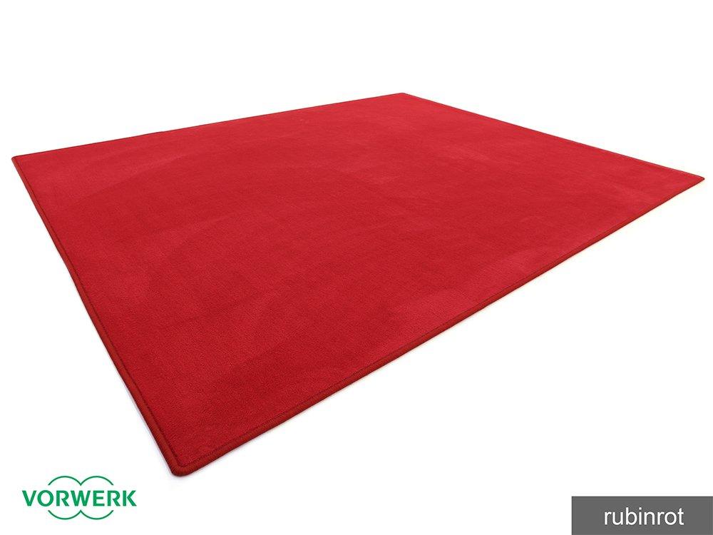 Vorwerk Bijou rubinrot der HEVO® Teppich   Spielteppich nicht nur für Kinder 160x200 cm
