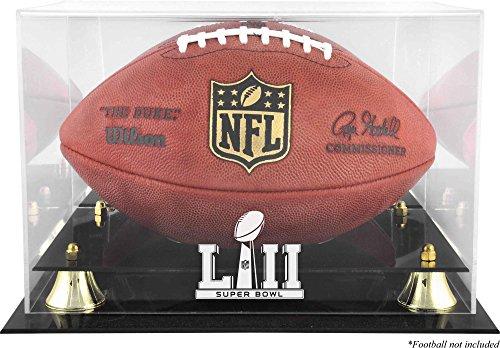 Sports Memorabilia Super Bowl LII Golden Classic Football Logo Display Case - Football Logo Display Cases
