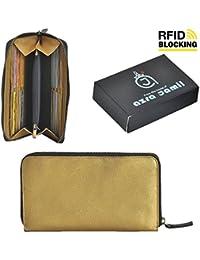 Leather Clutch With Removable Wristlet Strap Premium Women's Purse \ Wallet