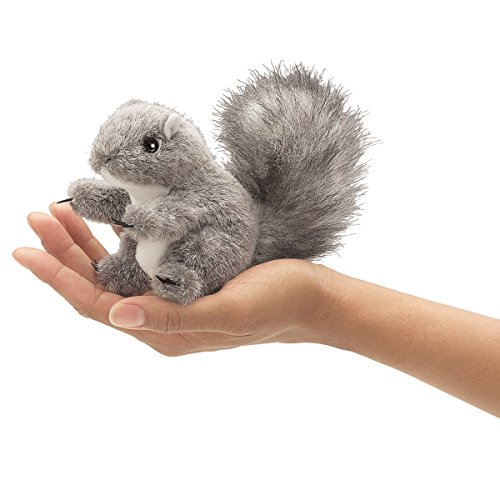 Folkmanis Mini Gray Squirrel Finger Puppet