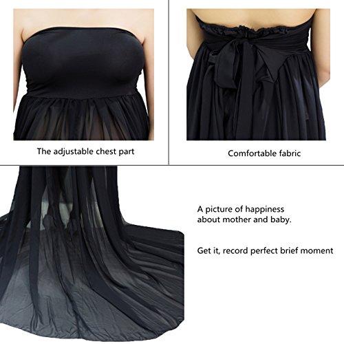 Tee-Moo - Vestido - ajustado - Manga corta - para mujer negro