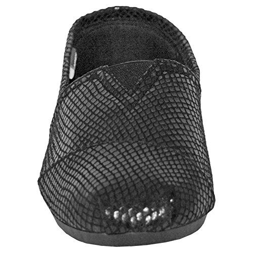 in Women's Loafer Exotic DAWGS Black Print Slip On Snake Kaymann 87Bd1nZwdq