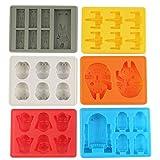 Cake Mold, Justdolife 6Pcs Ice Tray Silicone Mold Cube Tray Chocolate Fondant Mould Kitchen Supplies