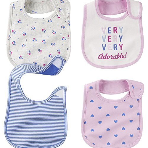 Carter's Baby Girl 4-pack Teething Bibs