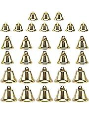 ABOOFAN 30pcs Christmas Jingle Bells Mini Metal Craft Bells for DIY Craft Xmas Tree Wreath Garland Decoration