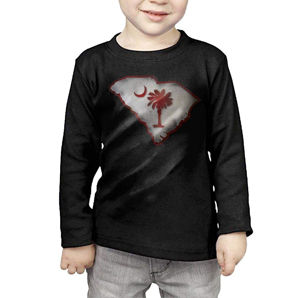 Baby Girls Childrens South Carolina Map Flag Printed Long Sleeve 100/% Cotton Infants Clothes