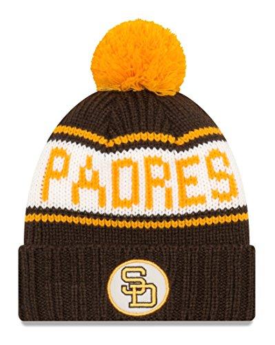 San Diego Padres New Era 9Twenty Cooperstown Retro Patch Cuffed Knit Hat - 1984