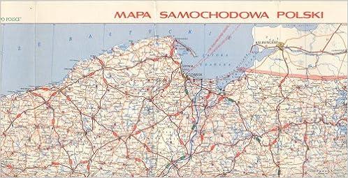 Mapa Samochodowa Polski Road Map Of Poland 1984 85 Amazon Com