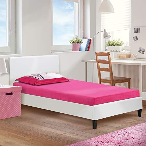 (Boyd Sleep Children's Open Cell Memory Foam Mattress, Raspberry, Twin)