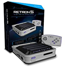 Hyperkin RetroN 5: HD Gaming Console for GBA/ GBC/ GB/ SNES/ NES/ Super Famicom/ Famicom/ Genesis/ Mega Drive/ Master System (Gray)