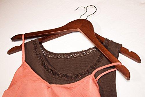 Topline Classic Wood Suit Hangers - 20 Pack (Cherry) by Topline (Image #5)