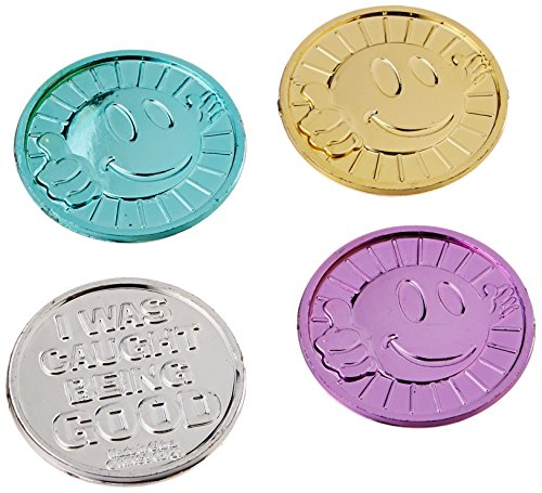 Fun Express Oriental Trading Company I Was Caught Being Good! Plastic Coins- Bulk (144 Piece)