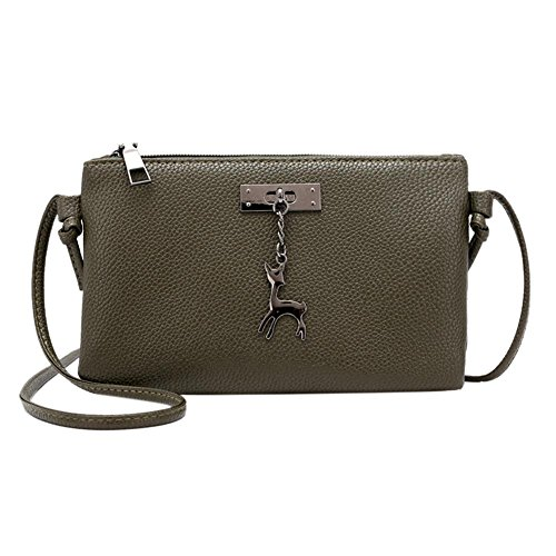 Army Leather Handbag Everpert Crossbody PU Shoulder Girl Casual Zipper Envelope Women Green Bag xgqSqPpY