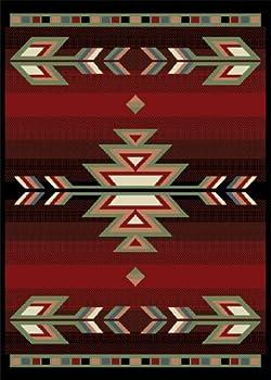 "5'2"" x 7'4"" Rectangular Oscar Isberian Rugs Area Rug Black Color Machine Made Turkey ""Premium Collection"""
