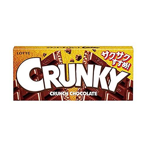 LOTTE Crunky Crunch Chocolate bar Dagashi snack Japan