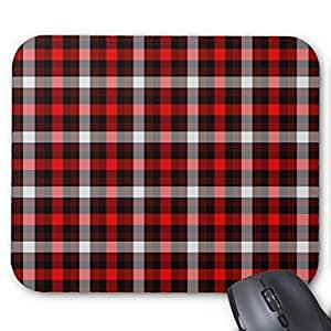 New Top Lumberjack Plaid Mouse Pad-Stylish, durable office accessory and gift