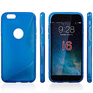DDU(TM) 1Pc Blue- Arc Frosted Soft Silicone Matte Cover Case Shell Protector for iPhone 6 Plus 5.5""