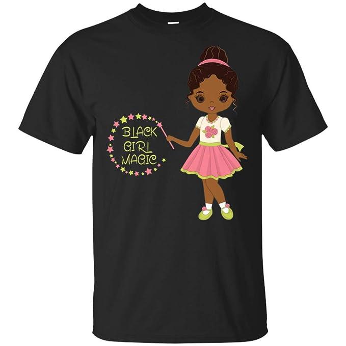 b97985e34 Amazon.com: Black Girl Magic! Cute Black African American Girls T-Shirt:  Clothing