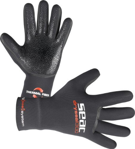 (SEAC 5mm Dryseal Neoprene Scuba Diving Gloves, Large)