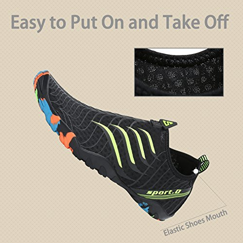 katliu Beach Shoes Barefoot Water Skin Shoes Swim Pool Surf Yoga Aqua Shoes for Women Men Black ZGfILd