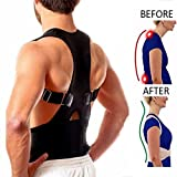 Magnetic Therapy Posture Corrector Body Back Pain Belt Brace Shoulder Support (L)