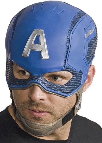 Marvel Men's Civil War Captain America Full Vinyl Mask, Multi, One Size ()
