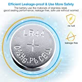 EBL 20Pcs Button Cell Battery LR44 AG13 G13A A76 L1154 Alkaline Battery