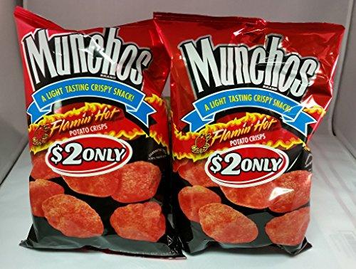 Munchos Flamin' Hot Potato Crisps (Pack of 2)