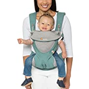 Ergobaby 360 All Carry Positions Award-Winning Cool Mesh Ergonomic Baby Carrier, Icy Mint